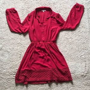 Charolette Russe red dress with slip, size small